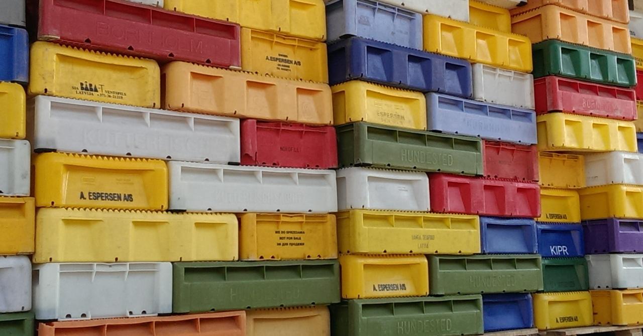 Plastikbehälter für den Lebensmittel-Transport